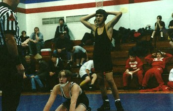 My beloved youngest son in the early days of his wrestling career.